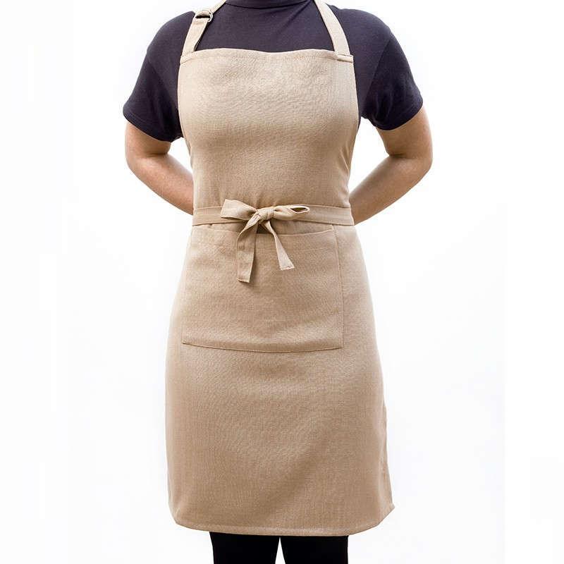 Ποδιά Κουζίνας Master Solid Beige Melinen 60x76cm