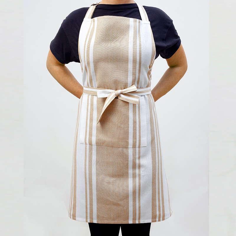 Ποδιά Κουζίνας Master Stripes Beige Melinen 60x76cm