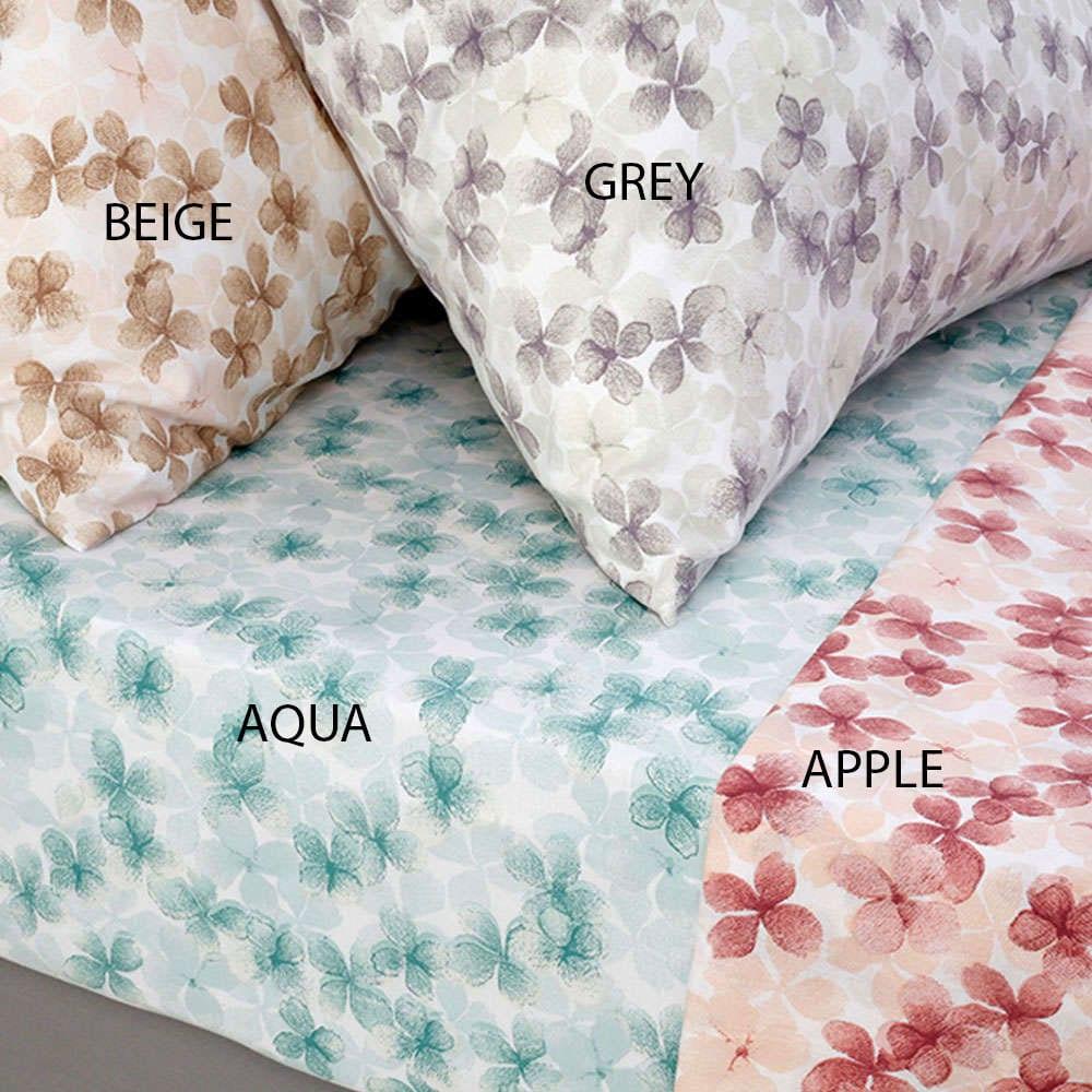 Σεντόνι Με Λάστιχο Urban Mixology Floral Apple Melinen Υπέρδιπλo 175x200cm