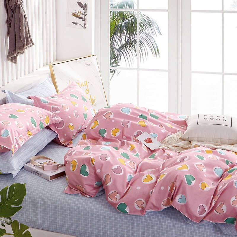 Σεντόνια Παιδικά Σετ 3τμχ Prime Line Heart Attack Pink Melinen Μονό 170x260cm