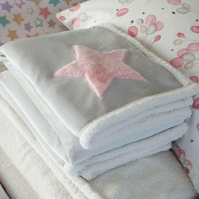 Κουβέρτα Βρεφική Baby Star Pink Melinen ΑΓΚΑΛΙΑΣ 80x110cm