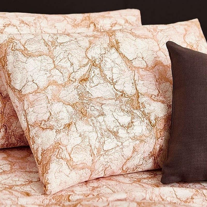 Μαξιλαροθήκη Σετ 2Τμχ Ultra Line Marble Blush Melinen 50Χ70