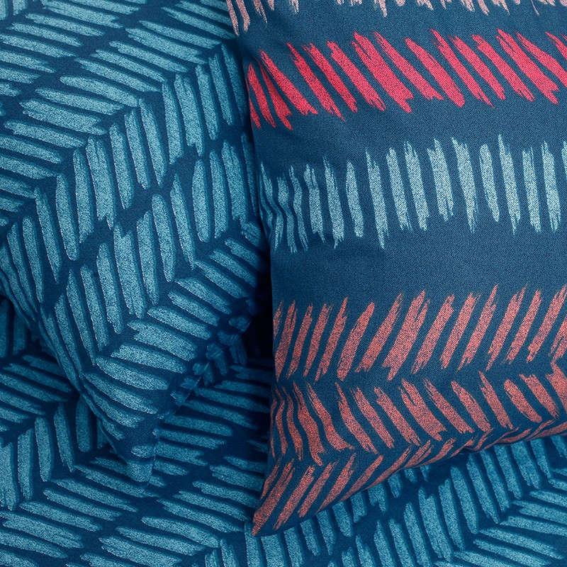 Μαξιλαροθήκη Σετ 2Τμχ Σχ. Πανωσέντονου Ultra Line Ελευθερία Indigo Blue Melinen 50Χ70