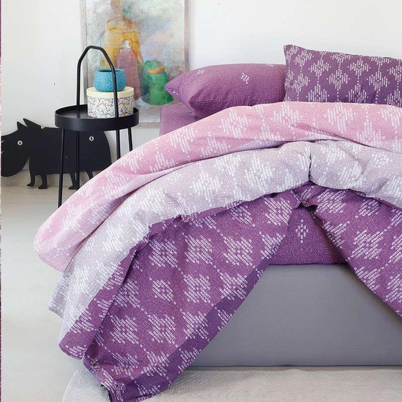 Παπλωματοθήκη Ultra Line Χαρά Violet Melinen Μονό 160x245cm
