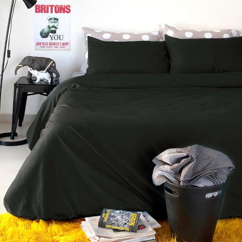 Παπλωματοθήκη Urban Black Melinen Μονό 160x245cm