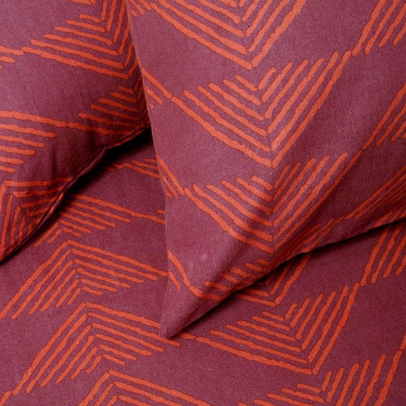 Μαξιλαροθήκη Σετ 2Τμχ Winter Line Prado Burgundy Melinen 50Χ70