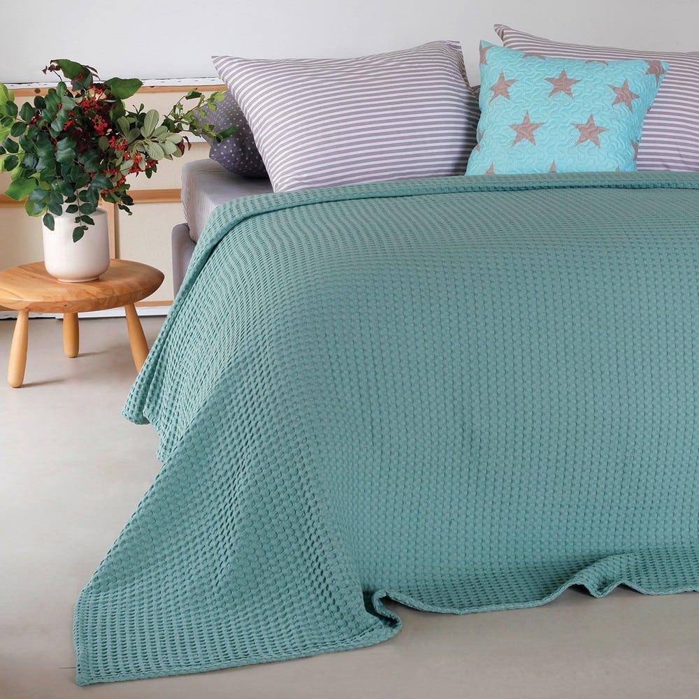 Κουβέρτα Πικέ Patmos Aqua Melinen King Size