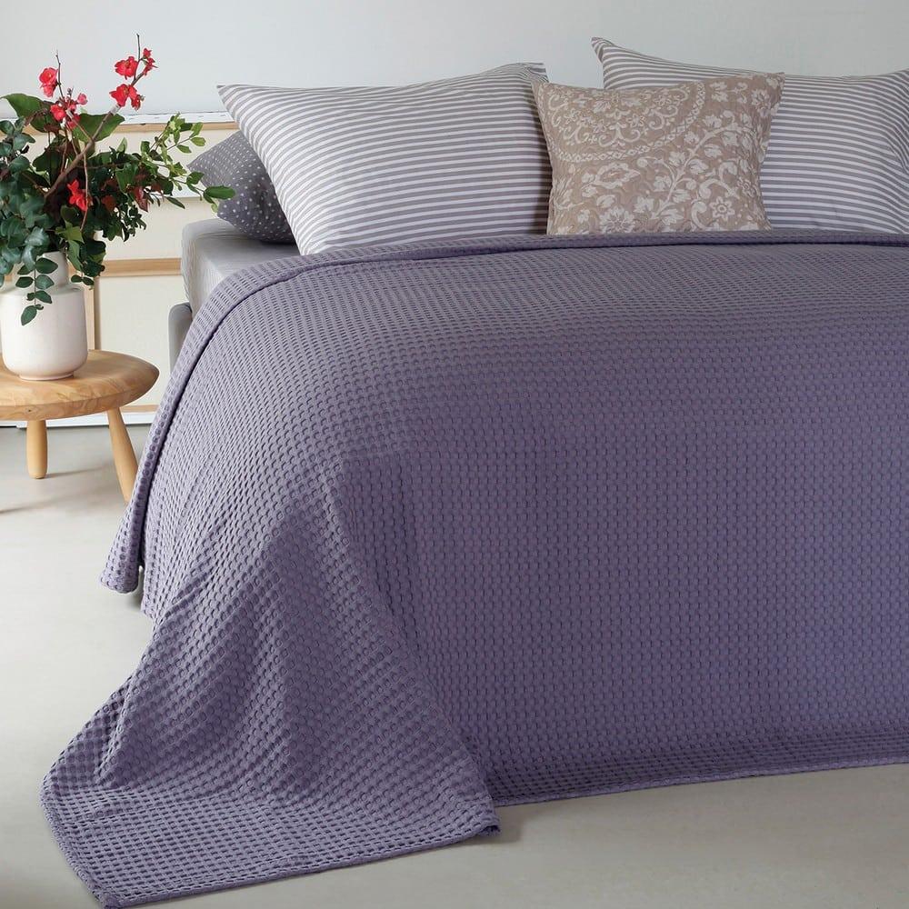 Κουβέρτα Πικέ Patmos Dark Lilac Melinen Μονό
