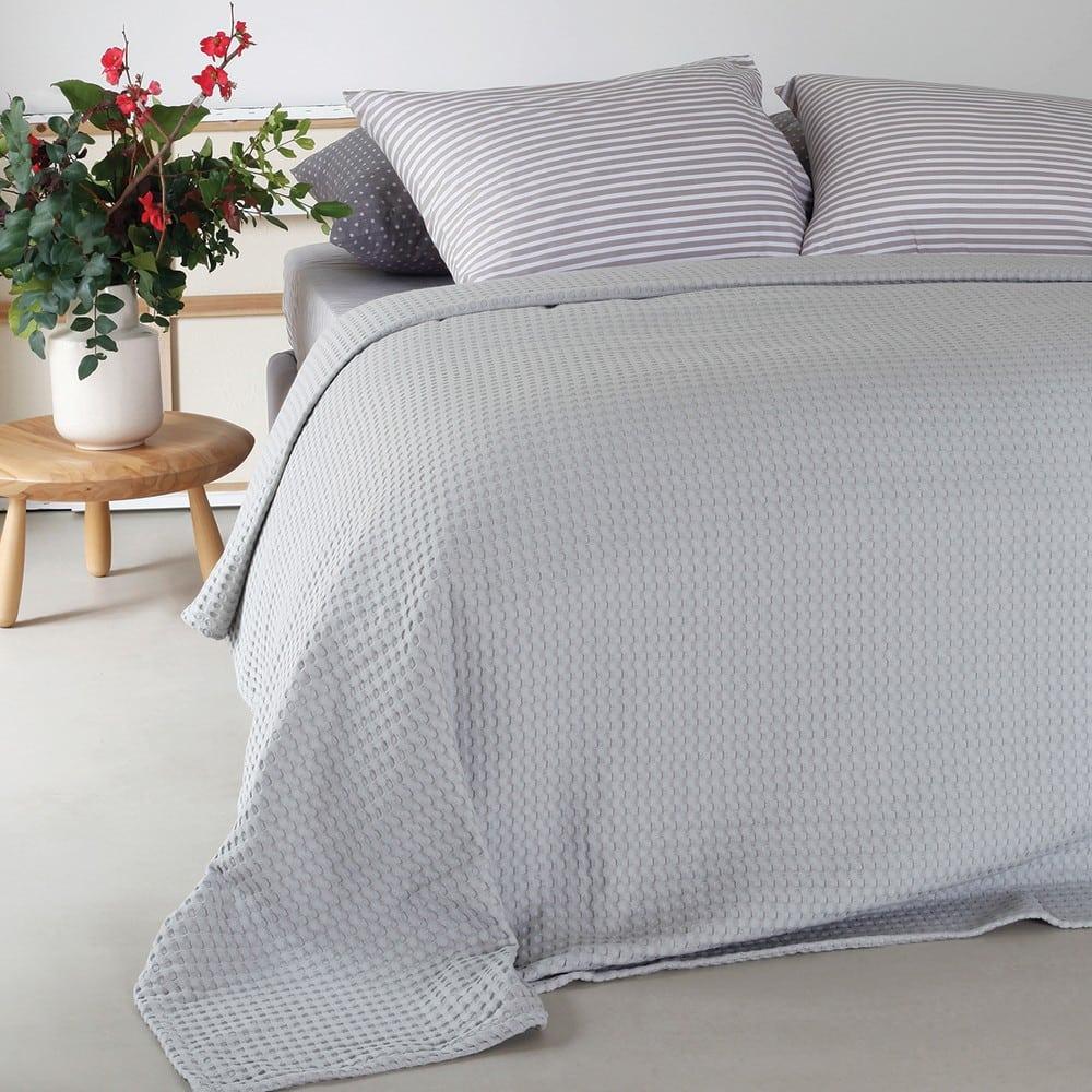 Κουβέρτα Πικέ Patmos Silver Melinen King Size