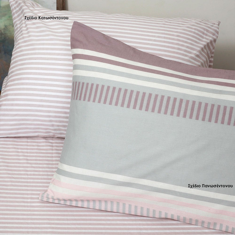 Μαξιλαροθήκες Blogger Σετ 2τμχ Σχέδιο Κατωσέντονου Pink Melinen 50Χ70