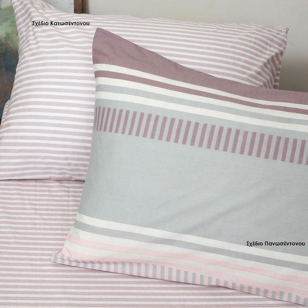 Μαξιλαροθήκες Blogger Σετ 2τμχ Σχέδιο Πανωσέντονου Pink Melinen 50Χ70