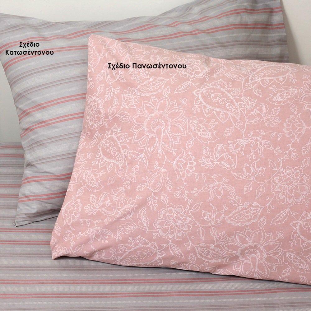 Μαξιλαροθήκες Lizzie Σετ 2τμχ Σχέδιο Πανωσέντονου Rose Melinen 50Χ70