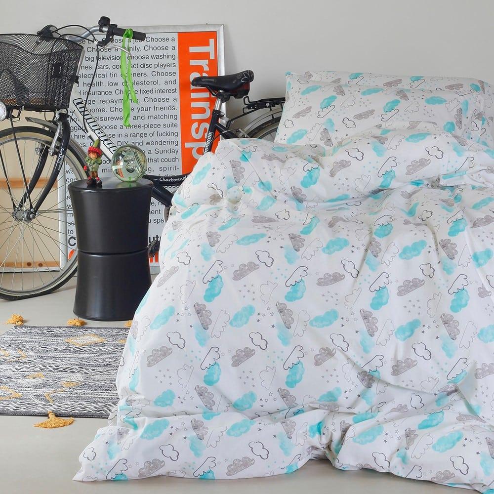 Μαξιλαροθήκες Παιδικές Cloud Boy Σετ 2τμχ Blue Melinen 50Χ70