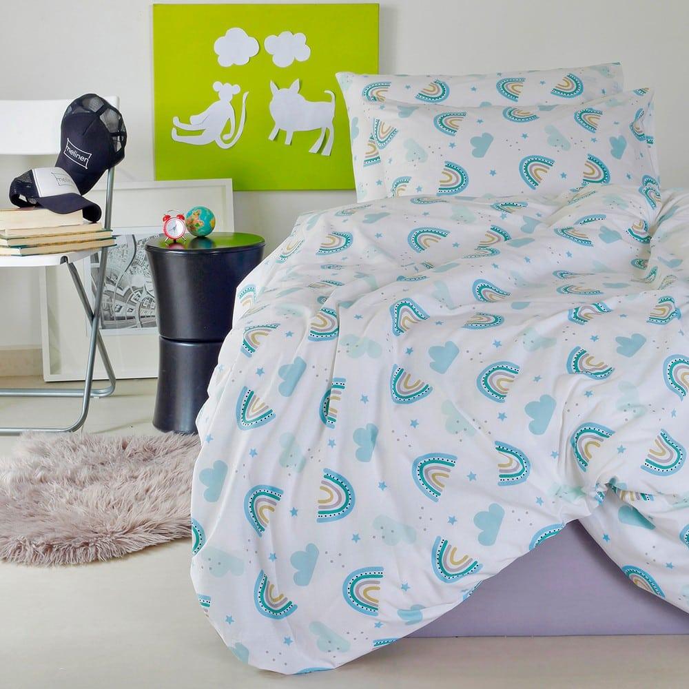 Μαξιλαροθήκες Παιδικές Σετ 2τμχ Rainbow Boy Blue Melinen 50Χ70