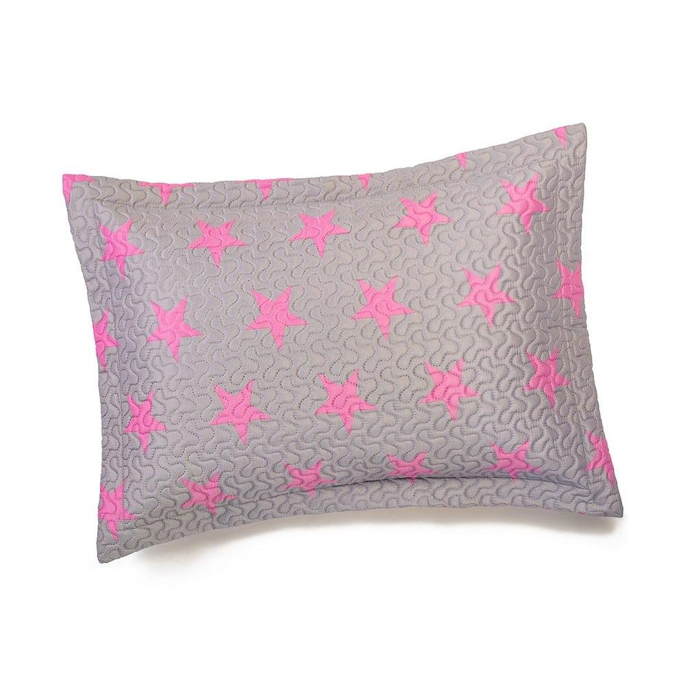 Μαξιλαροθήκη Παιδική Star Girl Grey-Pink Melinen 50Χ70