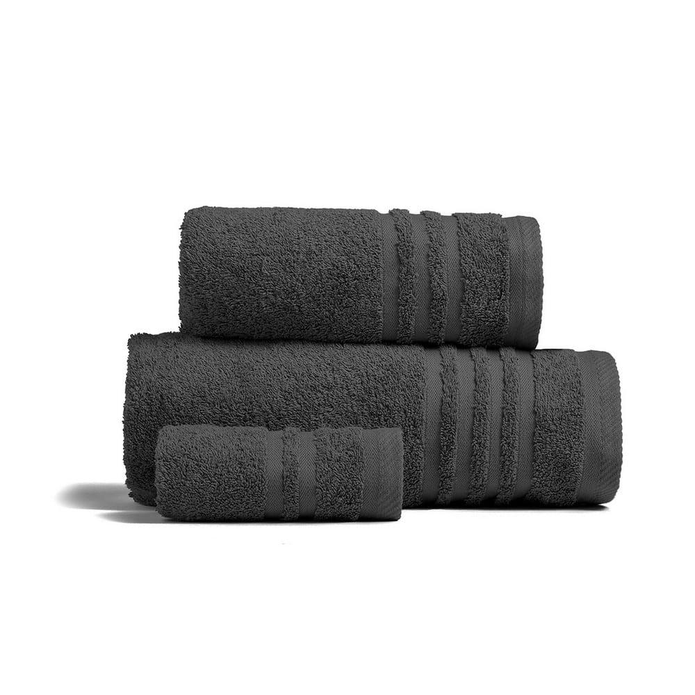 Πετσέτες Premio Σετ 3τμχ Dark Grey Melinen Σετ Πετσέτες
