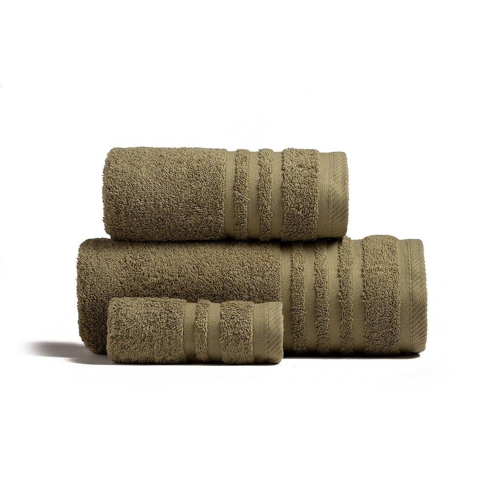 Πετσέτες Premio Σετ 3τμχ Olive Melinen Σετ Πετσέτες
