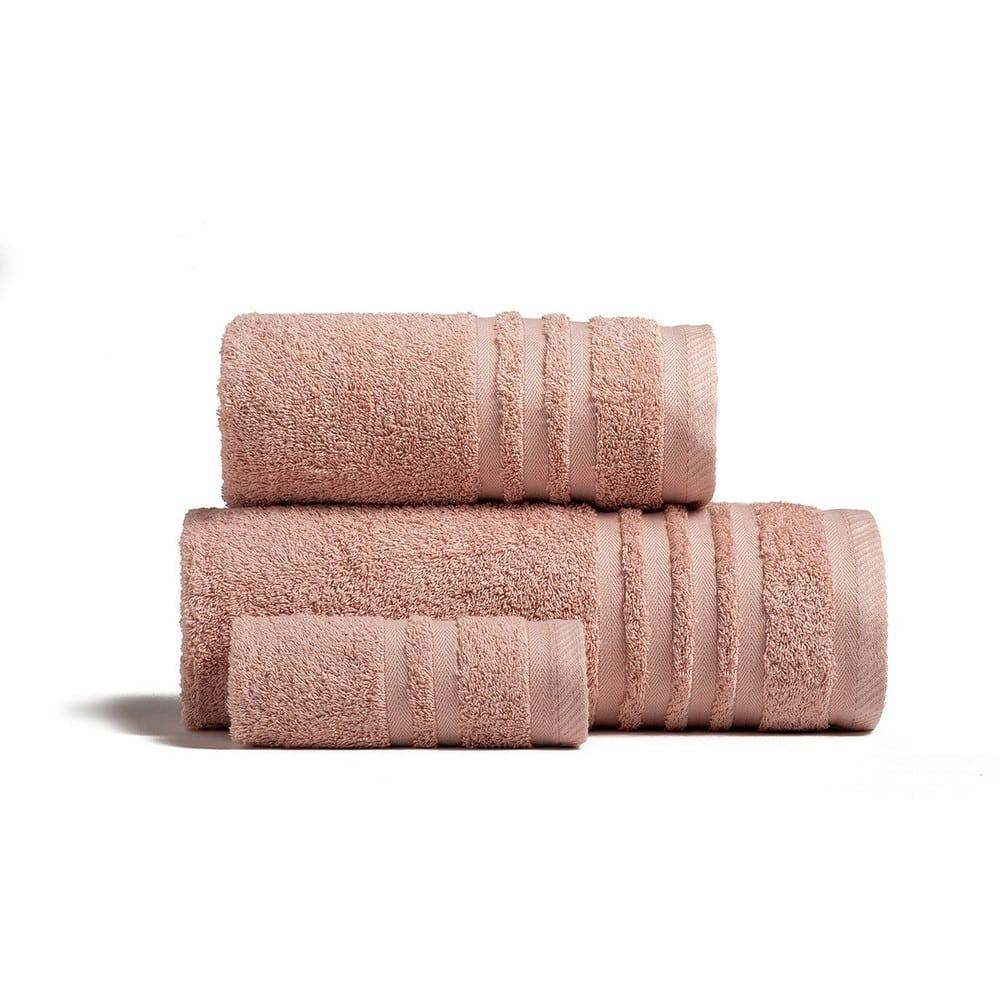 Πετσέτες Premio Σετ 3τμχ Powder Melinen Σετ Πετσέτες