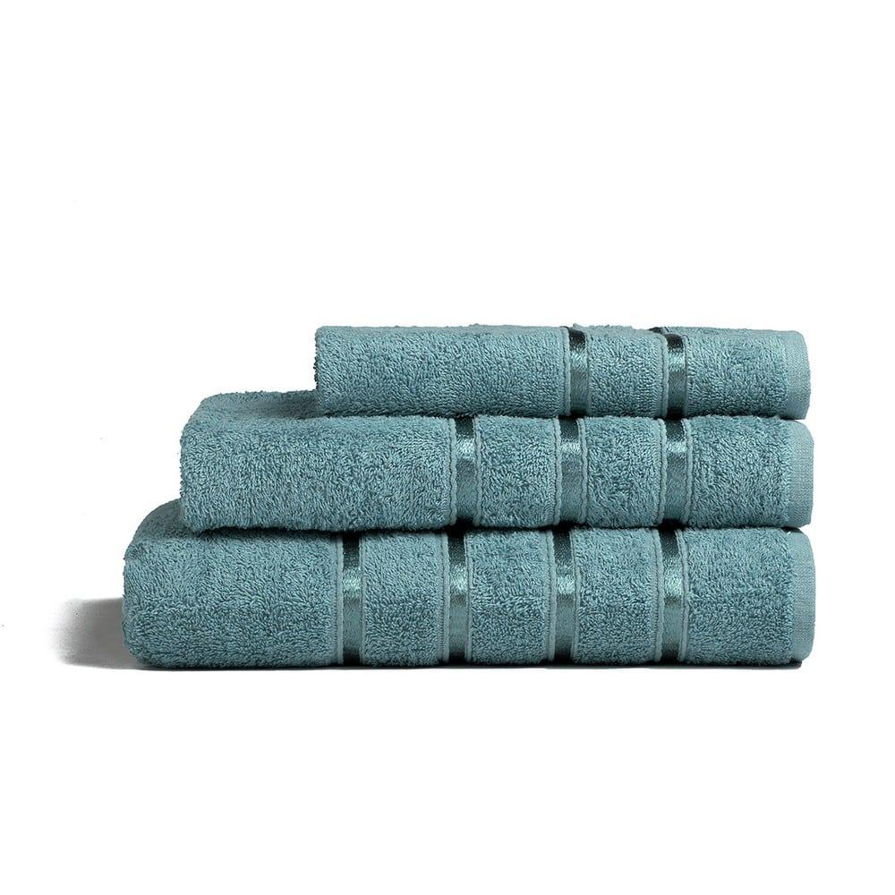 Πετσέτες Σετ 3τμχ Visco Blue Melinen Σετ Πετσέτες