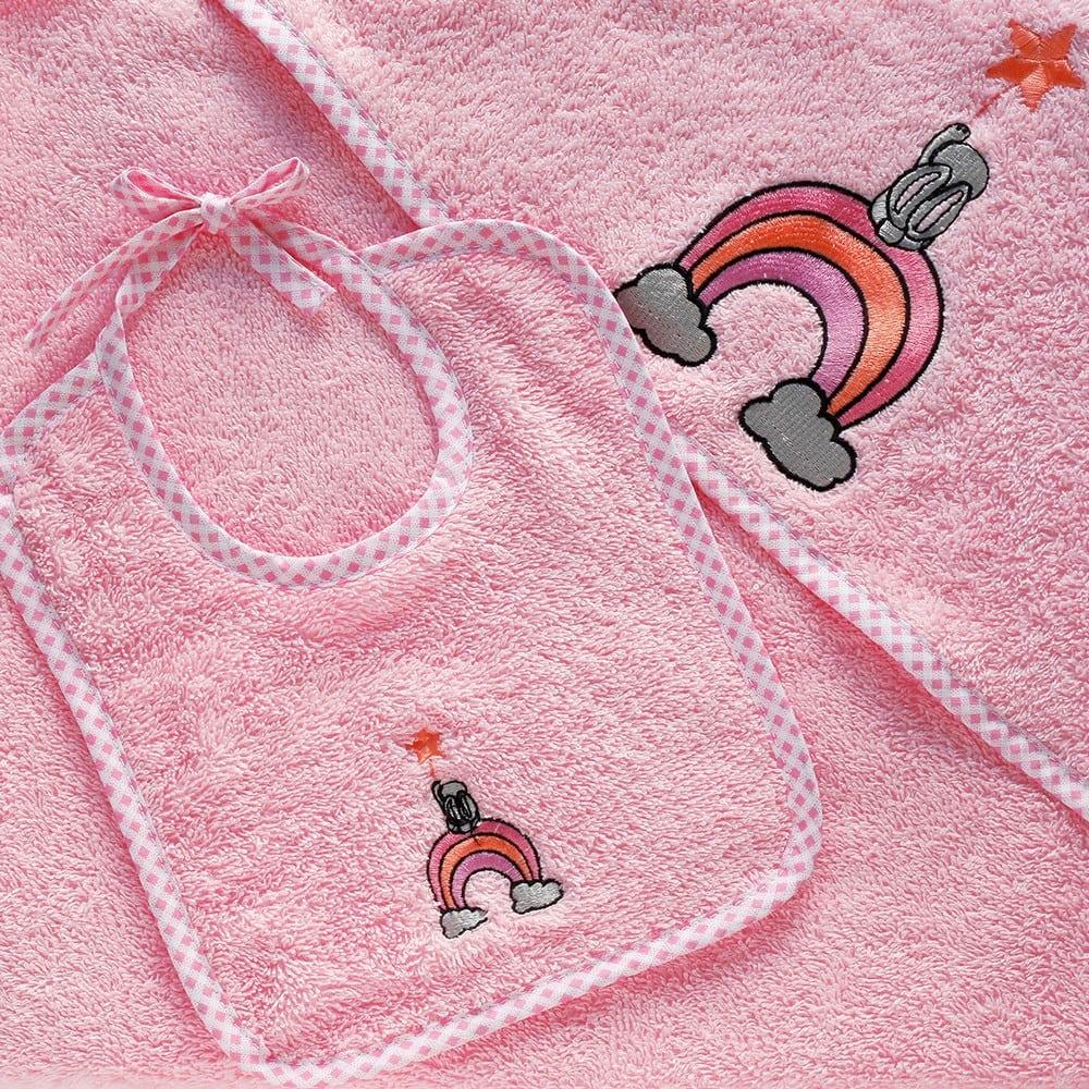 Σαλιάρα Βρεφική Wish Pink Melinen