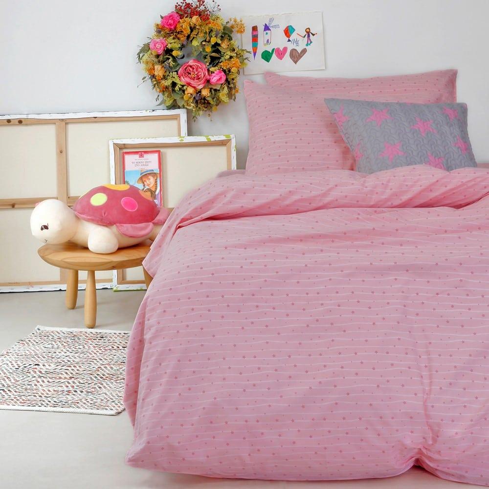 Σεντόνια Παιδικά Με Λάστιχο Σετ 3τμχ Estrella Girl Pink Melinen Μονό