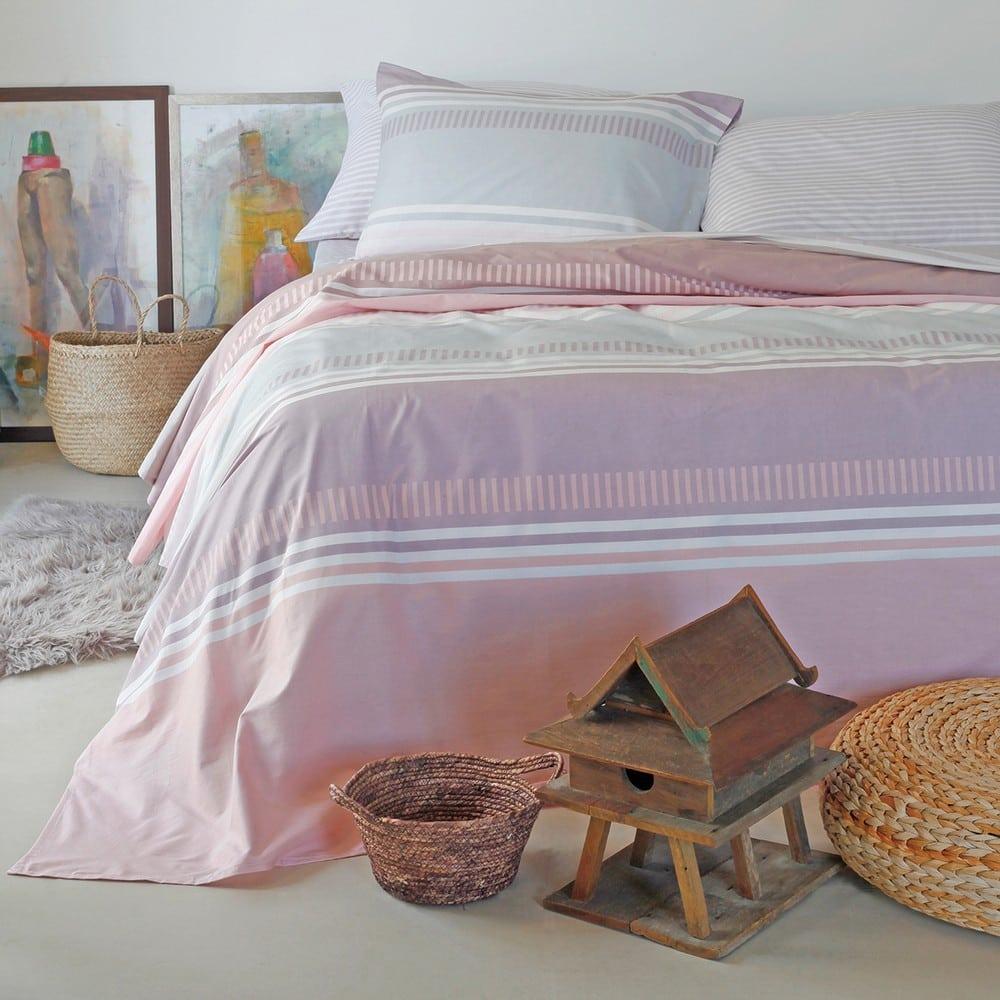 Σεντόνια Με Λάστιχο Blogger Σετ 4τμχ Pink Melinen King Size