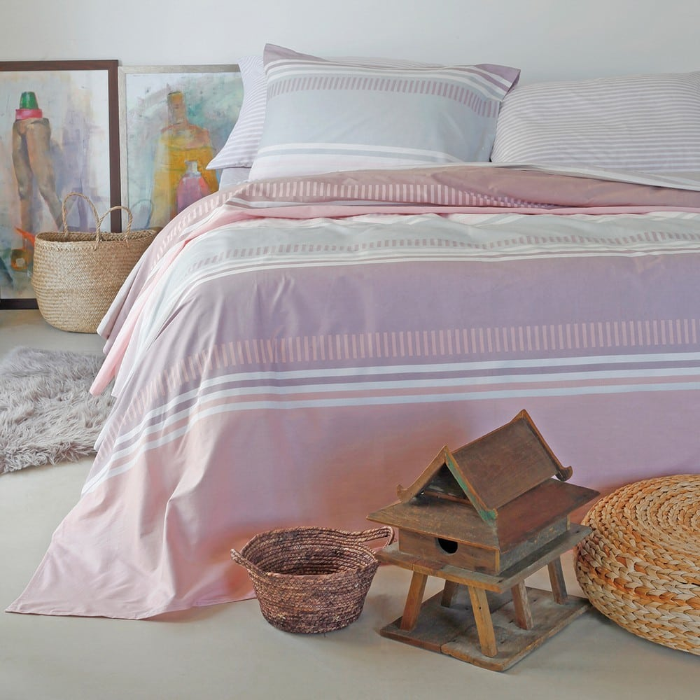 Σεντόνια Blogger Σετ 4τμχ Pink Melinen King Size