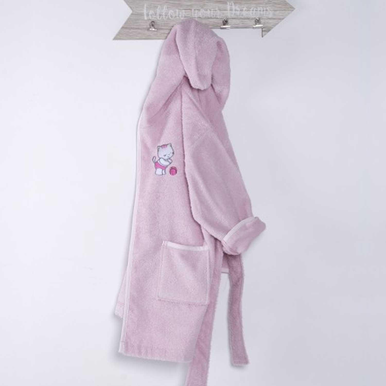 Μπουρνούζι Βρεφικό Kitten Pink Sb Home 0-2 ετών No 2