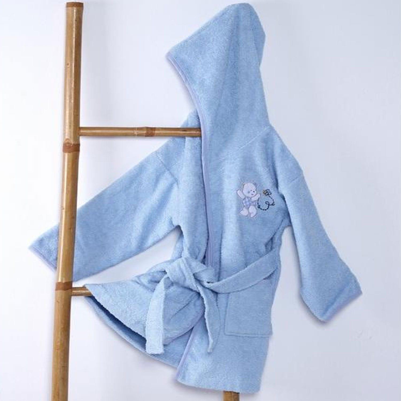 Μπουρνούζι Βρεφικό Teddy Bear Blue Sb Home 0-2 ετών No 2