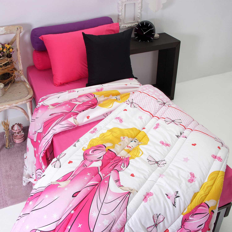 Πάπλωμα Παιδικό Princess Pink Pink Sb Home Μονό 160x240cm