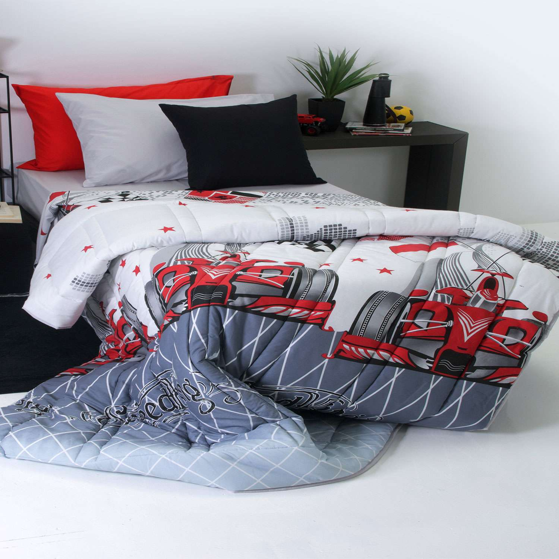 Παπλωματοθήκη Παιδική Speed Red Sb Home Μονό 170x240cm