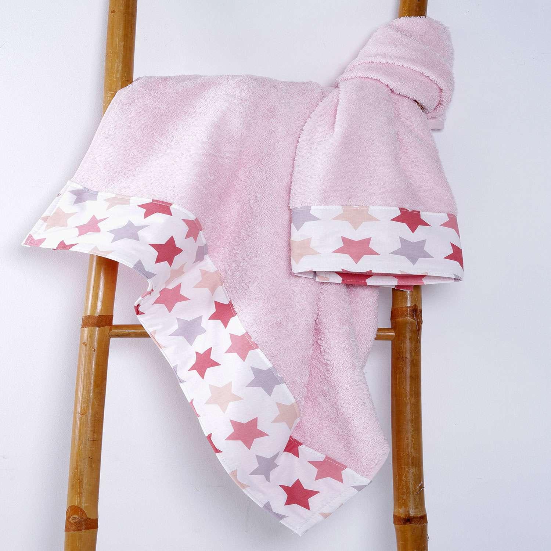 Πετσέτες Σετ 2 Τεμ.Φασα Βaby Stars Pink Sb Home Σετ Πετσέτες