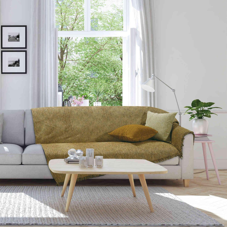 Ριχτάρι 0150 Gold Das Home Τριθέσιο 180x300cm