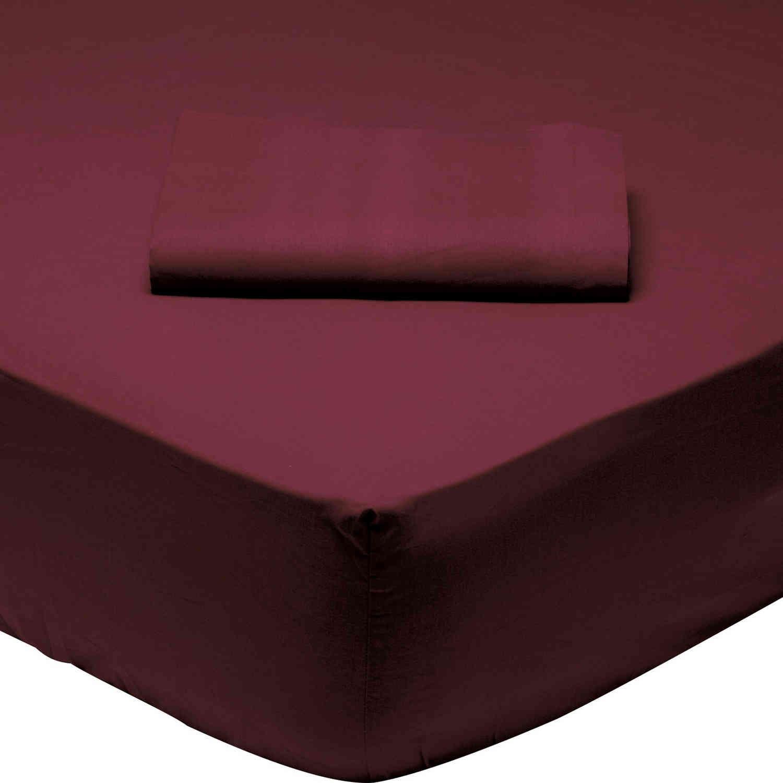 Σεντόνι 1014 Με Λάστιχο Best Colors Bordo Das Home Υπέρδιπλo 170x200cm