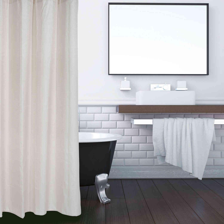 Κουρτίνα Μπάνιου 1082 Beige 180Χ240 Das Home Φάρδος 240cm 180x240cm