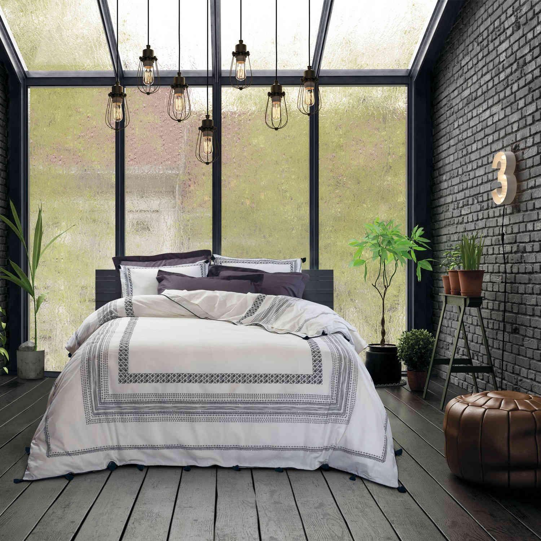 Σεντόνια Σετ 4Τμχ. 1607 Prestige Beige-Black Das Home Υπέρδιπλo 240x260cm