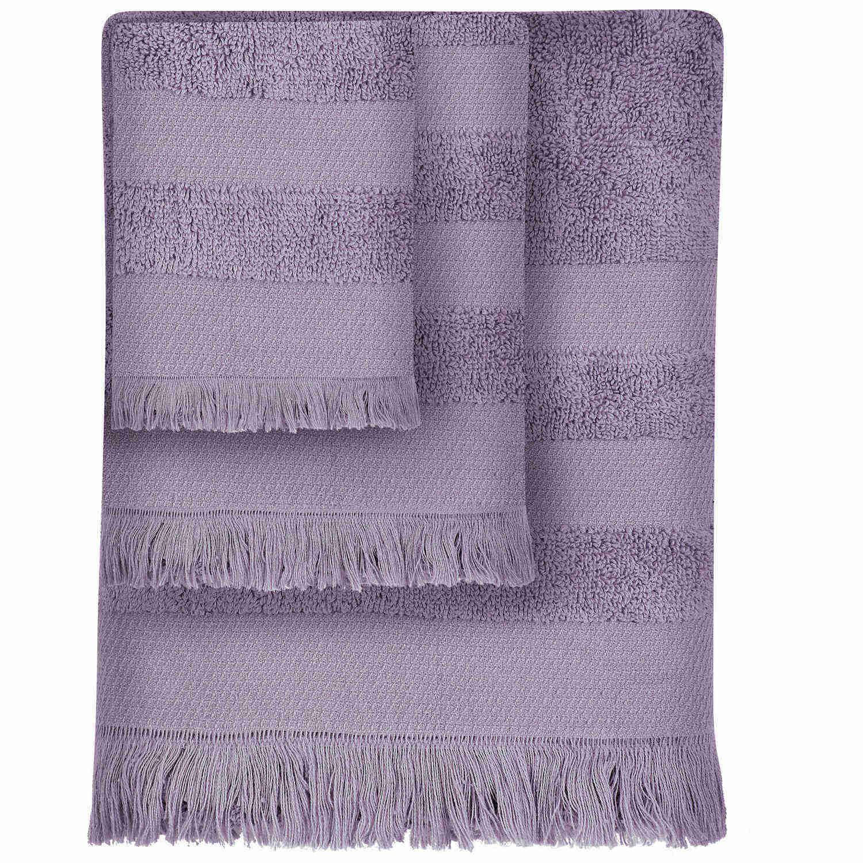 Πετσέτα 355 Simple Lila Das Home Σώματος 90x150cm