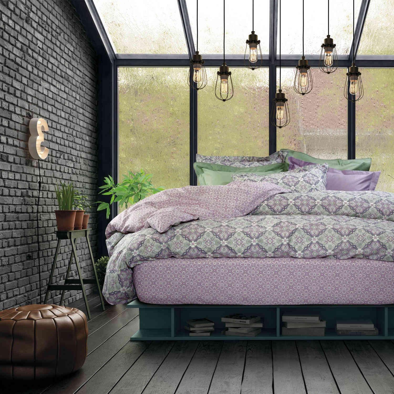 Παπλωματοθήκη Σετ 4650 Best Lila-Beige Das Home Υπέρδιπλo 220x240cm