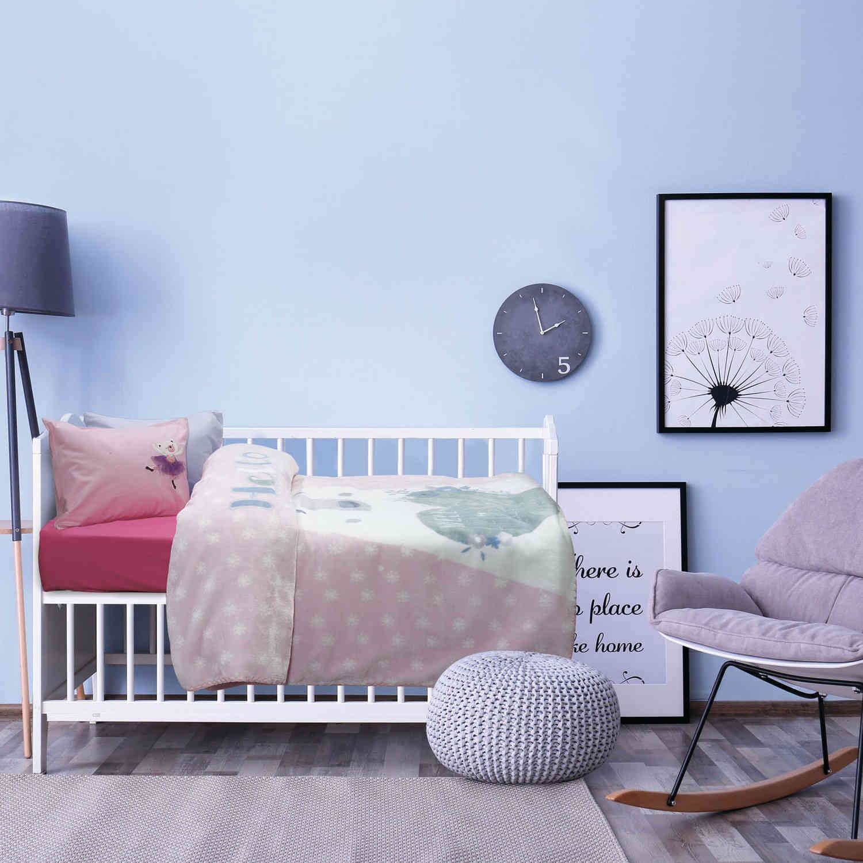 Κουβέρτα Βρεφική 6490 Velour Relax Pink-Ciel Das Baby Κούνιας 110x140cm