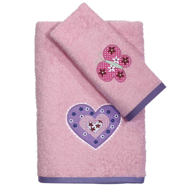 Πετσέτες Βρεφικές Κεντητές Σετ 2τεμ. 6493 Fun Baby Pink Das Baby Σετ Πετσέτες