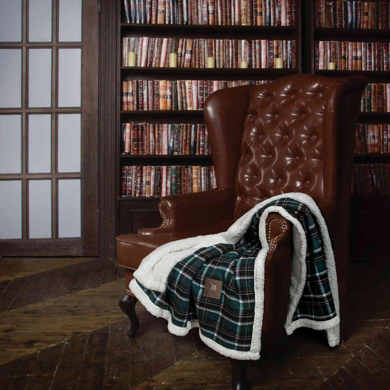 Κουβέρτα 2435 Sherpa Jacquard Green G.P.C 150X180 130x150cm