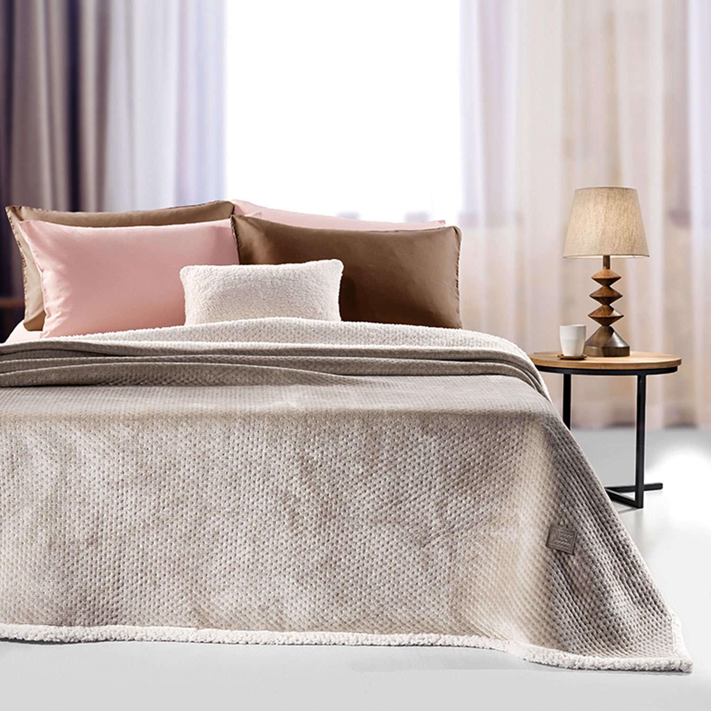 Κουβέρτα Serpa Camel Guy Laroche Υπέρδιπλo 220x240cm