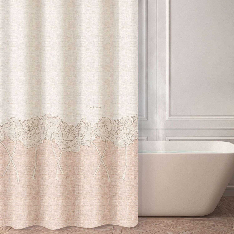 Κουρτίνα Μπάνιου Lady Pink Guy Laroche Φάρδος 180cm 180x185cm
