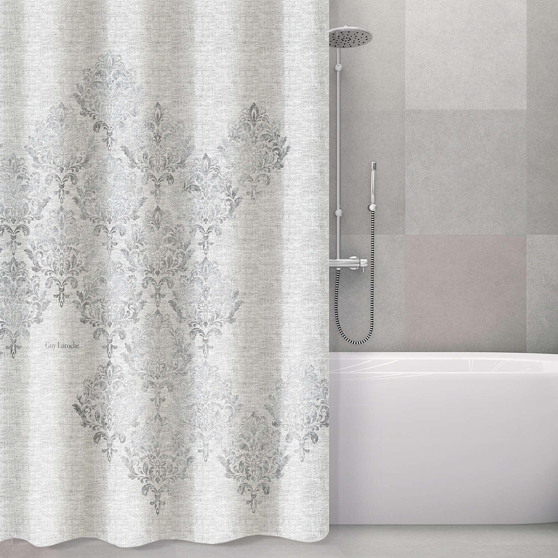 Κουρτίνα Μπάνιου Style Silver Guy Laroche Φάρδος 180cm 180x185cm