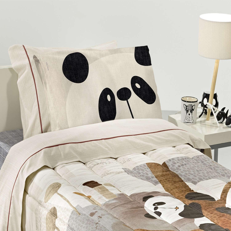 Μαξιλαροθήκη Παιδική Panda Beige-Multi Saint Clair 50Χ70