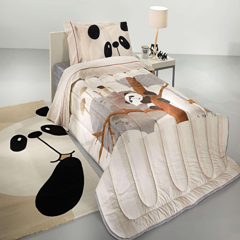 Πάπλωμα Παιδικό Panda Suede Beige – Multi Saint Clair Μονό 160x220cm