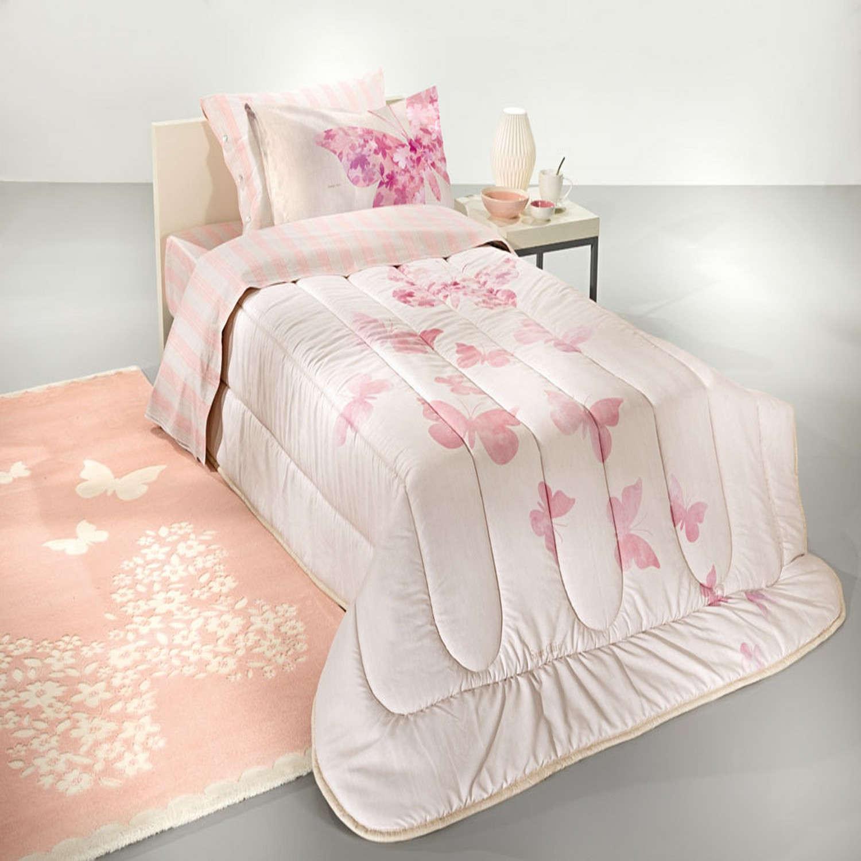 Παπλωματοθήκη Παιδική Contessa Suede Pink – Multi Saint Clair Μονό 160x220cm