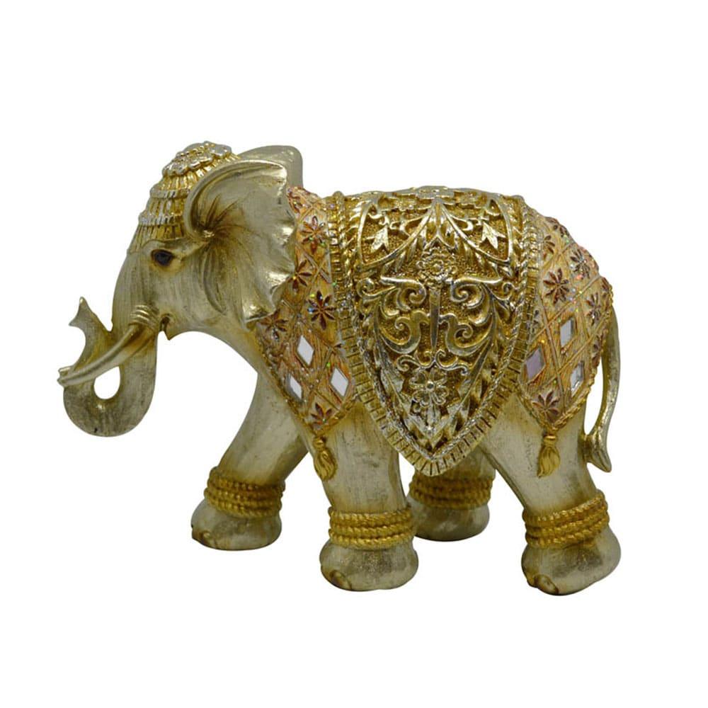 Διακοσμητικός Ελέφαντας 795659 22x9x17cm Gold Ankor Polyresin