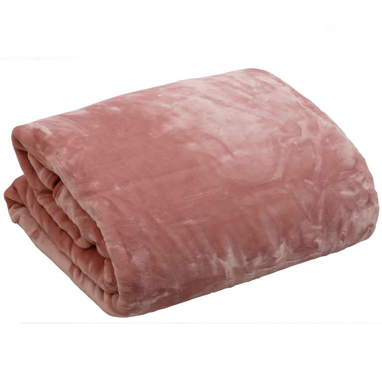 Μονόχρωμες Βελουτέ Κουβέρτες Velour Pink Anna Riska Ημίδιπλο 160x220cm