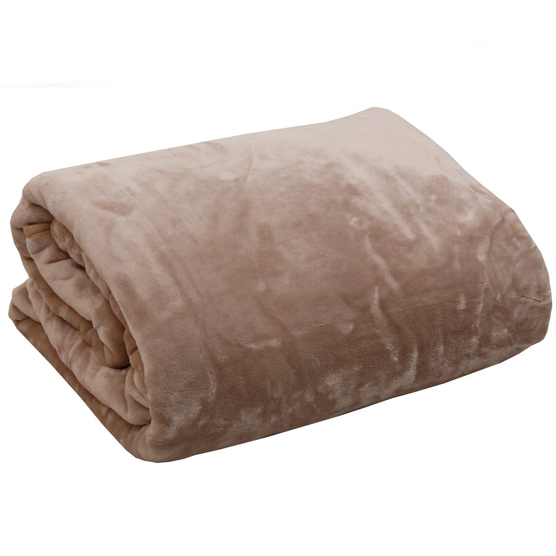 Μονόχρωμες Βελουτέ Κουβέρτες Velour Linen Anna Riska Ημίδιπλο 160x220cm